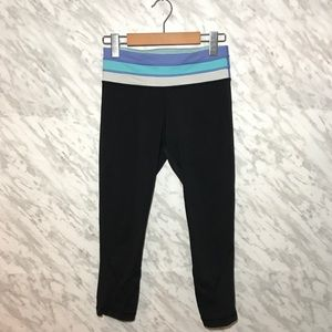 2/$60 Lululemon Reversible Cropped Leggings Black
